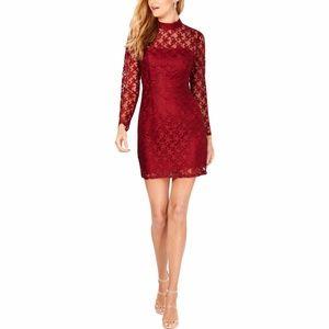 BETSEY JOHNSON Lace Deep Star Printed Dress